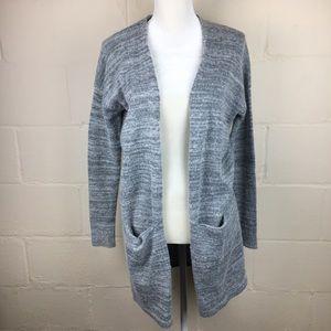 express wool nylon opene cardigan sweater small